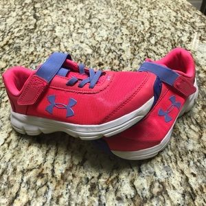 Under Armour Girls Pink/Purple Athletic Shoes